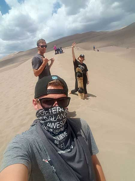#BeActive and board the Great Sand Dunes
