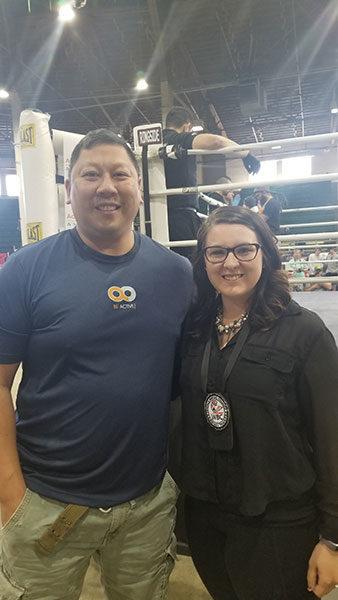 #BeActive at Muay Thai tournament in Denver, CO