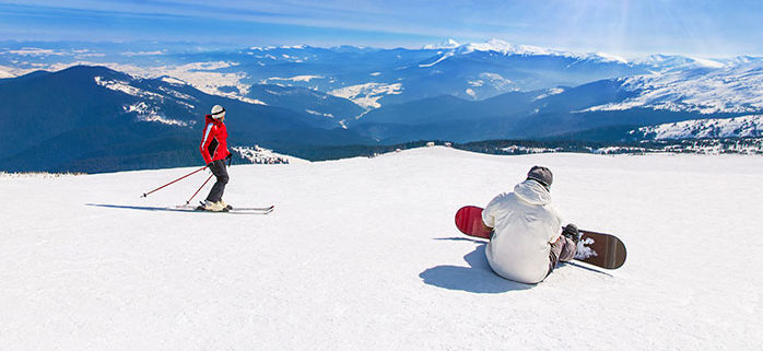Snowboarder vs skier ankle injuries